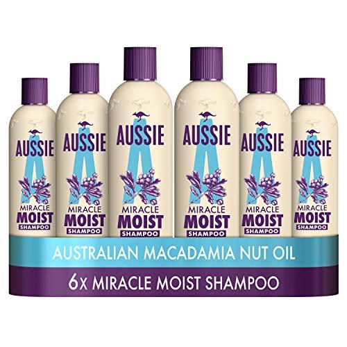 Aussie Miracle Moist Shampoo 300 ml - Pack of 6, Cruelty free £10.88 Prime (+£4.49 Non-Prime) @ Amazon