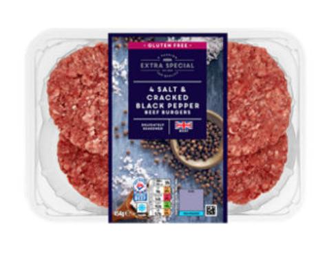 ASDA Extra Special 4 Seasoned Beef Burgers 75p @ Asda - Store specific