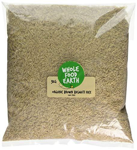 Wholefood Earth Organic Brown Basmati Rice, 3 kg. £3.55 (£1.18 / kg) Prime / +£4.49 non Prime @ Amazon