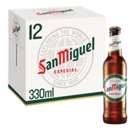 San Miguel Premium Lager Beer 12 x 330ml £7.97 @ Asda
