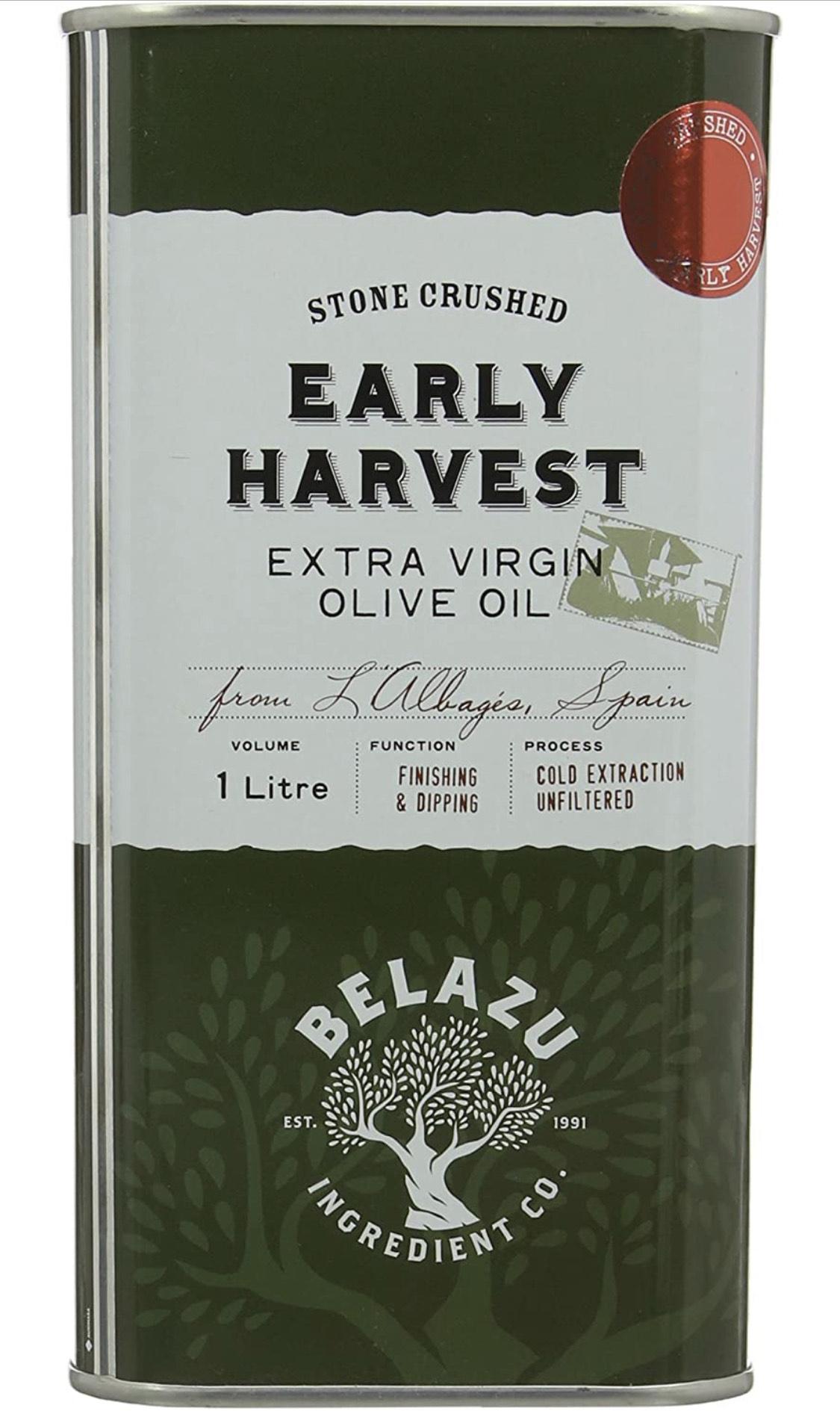 Belazu Early Harvest Olive Oil Tin, 1L - £7.78 Prime / +£4.49 non Prime @ Amazon