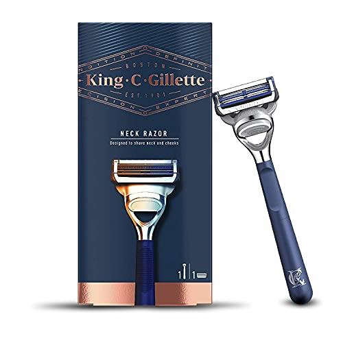 King C. Gillette Neck Razor for Men + 1 Stainless Steel Platinum Coated Refill Blade - £4.44 Prime / +£4.49 non Prime @ Amazon