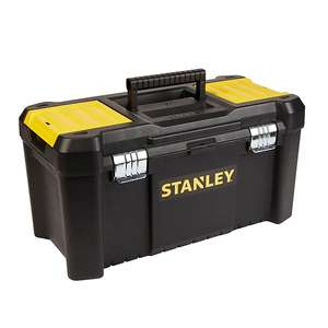 """Stanley 19"""" Metal & plastic 3 compartment Toolbox - £10.00 @ B&Q click and collect - Select stores @ B&Q"""