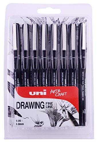 UNI Pin (by uni-ball) Pack of 8 Black 005 - 08, UUAPIN8A - £5.17 Prime / +£4.49 non Prime @ Amazon