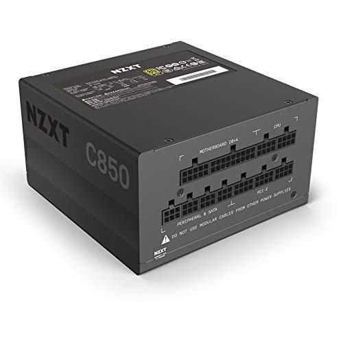 NZXT C850 - NP-C850M-UK - 850 Watt PSU - 80+ Gold Certified - Modular Design - Sleeved Cables - ATX Gaming Power Supply - £109.98 @ Amazon