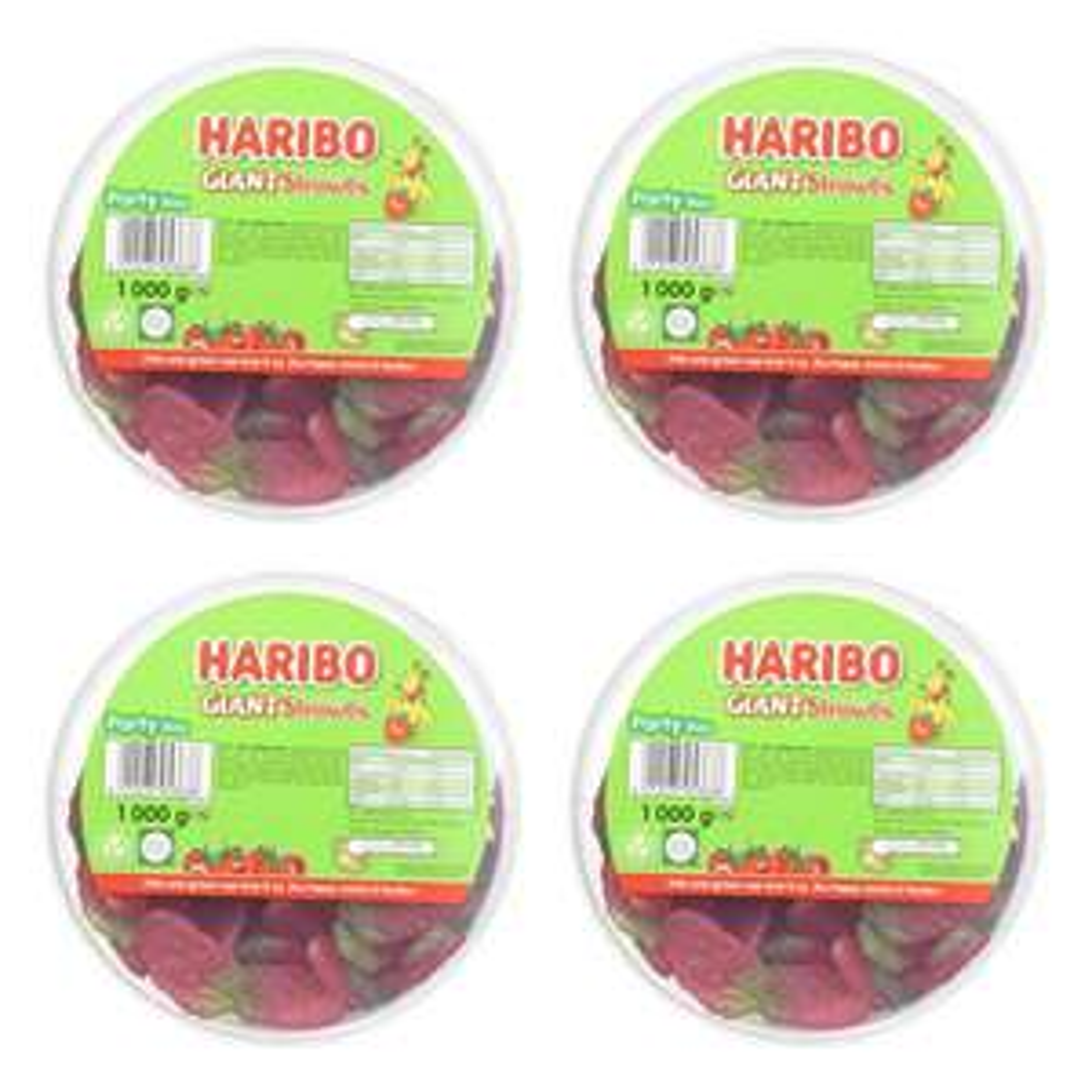 Haribo Giant Strawbs Strawberry Bulk 4 x 1kg tubs £13.70 @ amazon (£4.49 p&p non prime) £11.65/£13.41 s&s