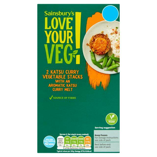 Sainsbury's Love Your Veg Katsu Curry Vegetable Stacks Aromatic Katsu Curry Melt x2 280g £1 at Sainsburys