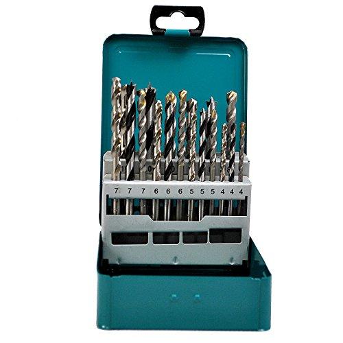 Makita D-47173 18Pc Mixed Drill Set Metal Box, Blue/Black/Silver £12.49 Prime / £16.98 Non-Prime @ Amazon