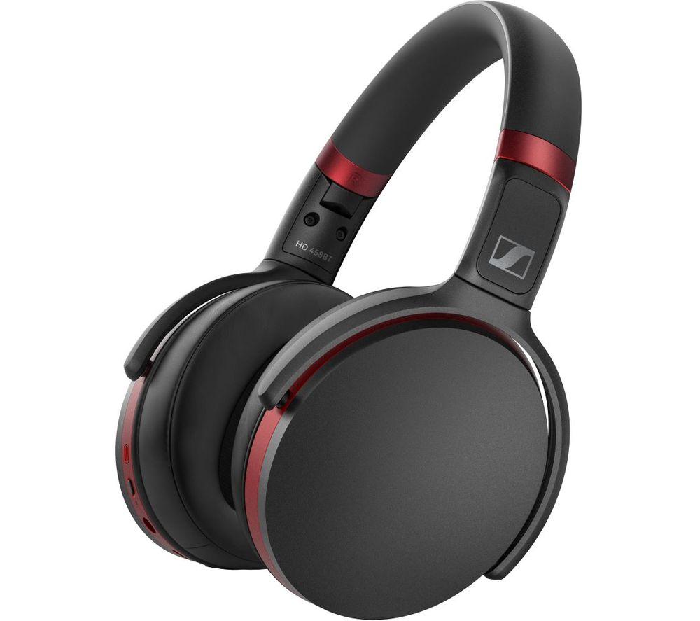 SENNHEISER HD 458BT Wireless Bluetooth Noise-Cancelling Headphones - Black & Red £109 @ Currys