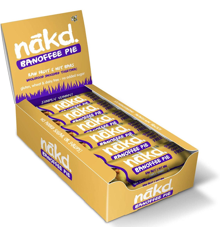 Nakd Banoffee Pie Bars - 35g - Pack of 18 £7.20 (+£4.49 Non Prime) @ Amazon