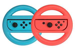Amazon Basics Steering Wheel for Nintendo Switch - Blue/Red (2 Pack), £6.05 (+£4.49 non prime) at Amazon