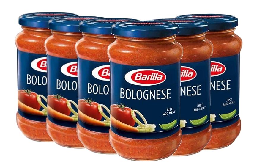 Barilla Pasta Sauce, Bolognese, Perfect with Spaghetti Pasta, Authentic Italian Taste, 6 x 400g £5.88 (+£4.49 Non Prime) S/S £5.59 @ Amazon