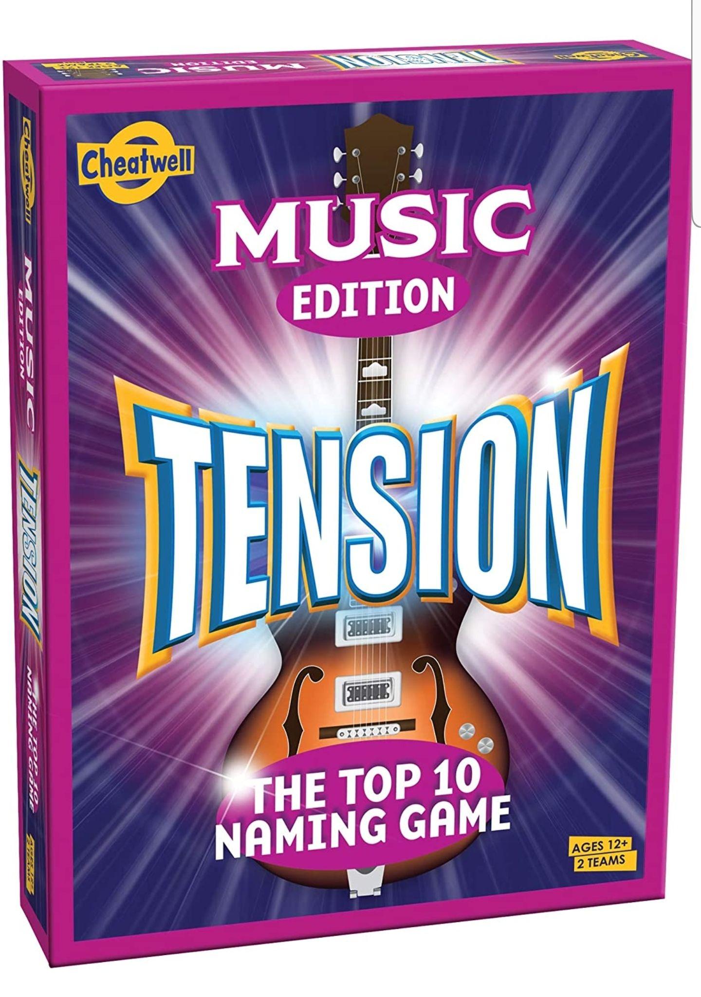 Cheatwell Games Tension Music Edition - £3.50 (+£4.49 Non-Prime) @ Amazon