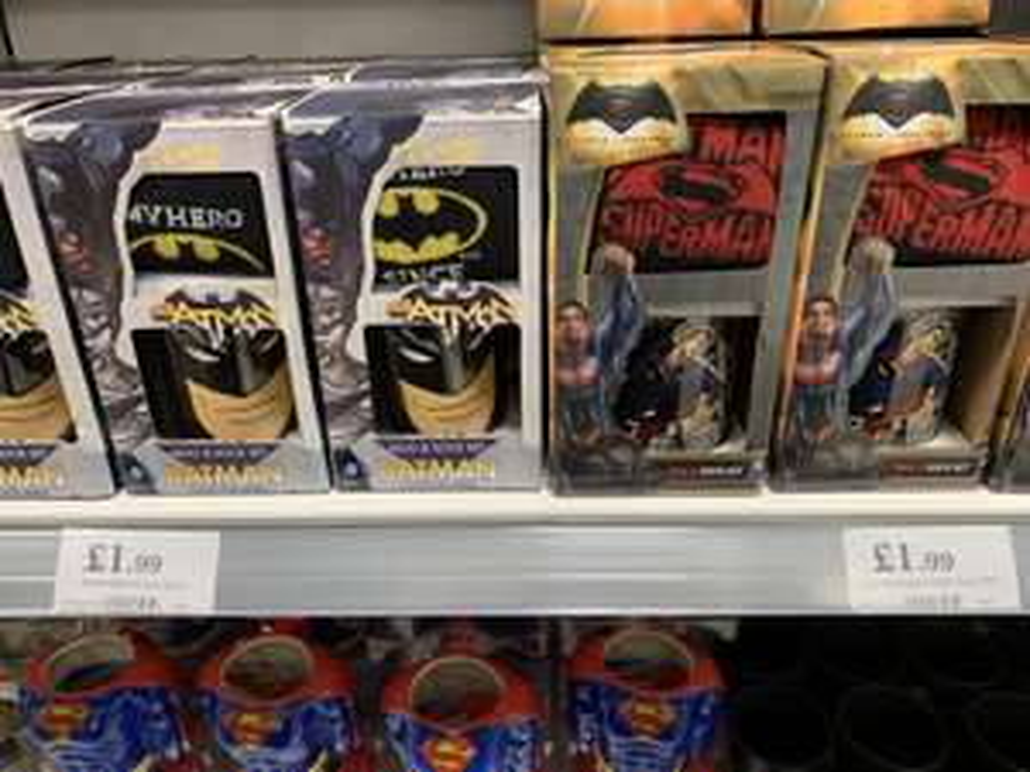 DC Mugs & socks gift set Batman superman - £1.99 Home Bargains (Harborne)