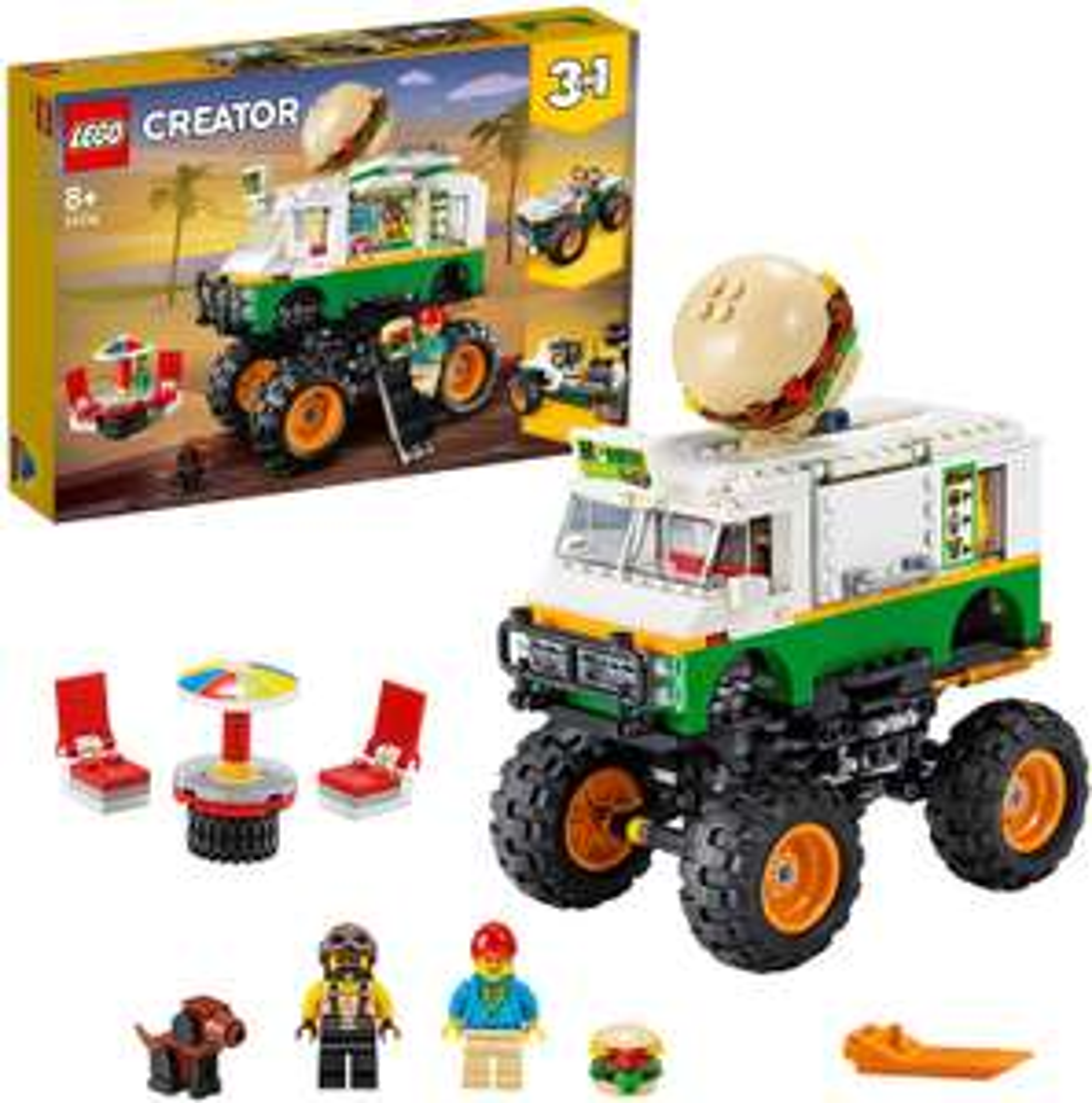 Lego Creator 31104 3 in 1 Monster Burger Truck £21.38 Amazon