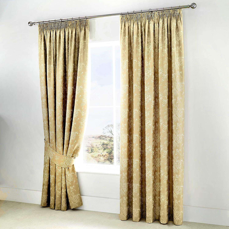 Serene Champagne Curtains - £14.27 (+£4.49 Non Prime) @ Amazon