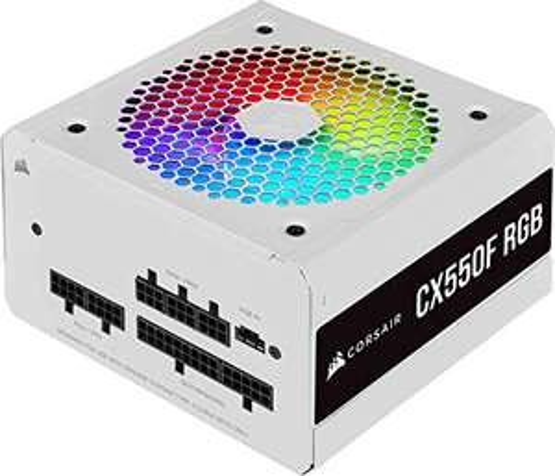Corsair CX550F RGB White 550W 80+ Bronze Fully Modular Power Supply Unit £43.16 at Amazon