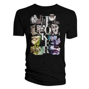 Batman: T-Shirt: The Many Faces Of The Joker - £5.99 Delivered at Forbidden Planet