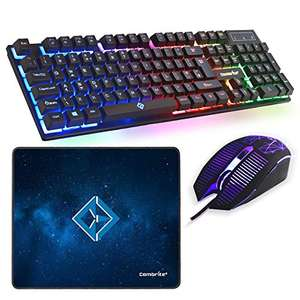 Combrite Raptor Gaming Keyboard, Mouse & Mouse Pad, Rainbow LED, USB Wired Desktop Combo £15.89 Prime (+£4.49 NP) @ Amazon (Lightning Deal)