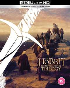 The Hobbit Trilogy [Theatrical and Extended Edition] [4K Ultra HD] [2012] [Blu-ray] [Region Free] £60 at Amazon