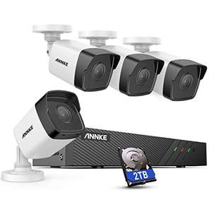ANNKE H500 8CH Bullet POE CCTV 2TB Camera System + 4x 5MP Security IP Cameras - £284.99 (using Code) Sold by Smart Home Brand Store / Amazon