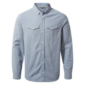 Craghoppers Kiwi Linen Long-Sleeved Shirt in Fogle Blue for £22.99 delivered using code @ Hawkshead