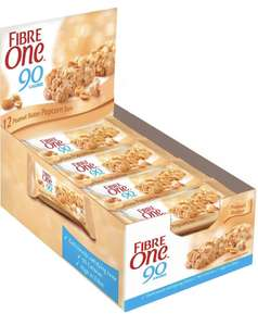 Fibre One 90 Calorie Peanut Butter High Fibre Popcorn Bars 12x21g - £2.97 prime / £7.46 nonPrime at Amazon