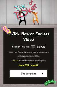 TikTok and Twisted Mirror now unlimited without using your data for VOXI subscribers on plans with Endless Video from £15 per month
