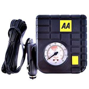 AA 12 V Compact Tyre Inflator AA5007 – For Cars Other Vehicles Inflatables Bicycles (With PSI Gauge) - £6.74 @ Amazon Prime (+£4.49 NP)