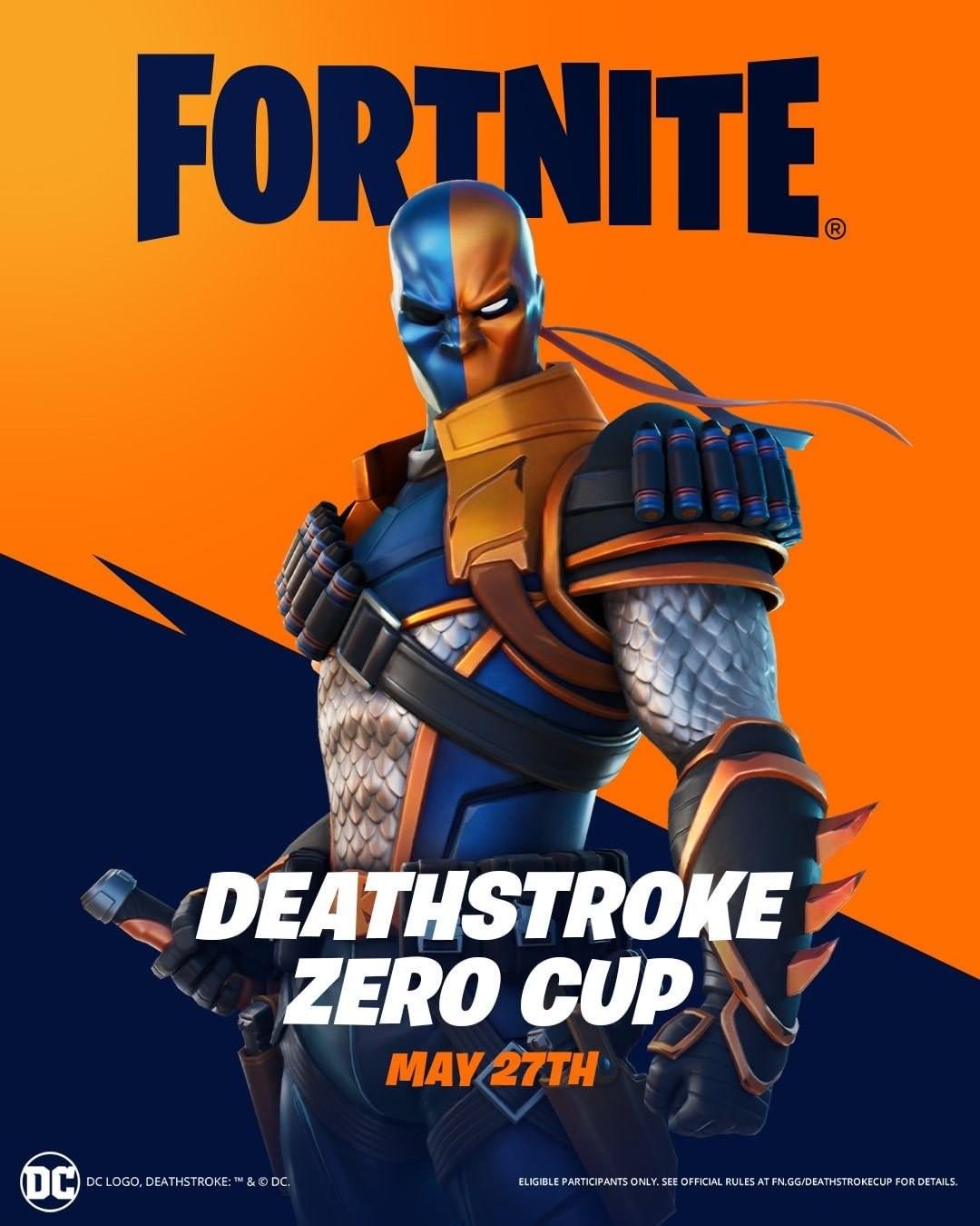 Deathstroke Zero Cup. FREE DC Deathstroke FORTNITE skin @ Epic Games