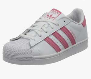 Adidas Superstar white and pink size 5 £22.43 @ Amazon