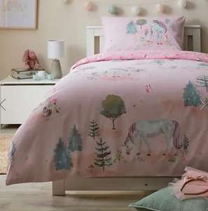 Special Buy Kids reversible Duvets from £7 - Unicorn, Road map, Floral + Free click & collect @ Dunelm