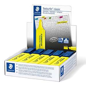 STAEDTLER Textsurfer Classic 364 Highlighter - Yellow, Pack of 10 £4.24 (+£4.49 Non Prime) @ Amazon