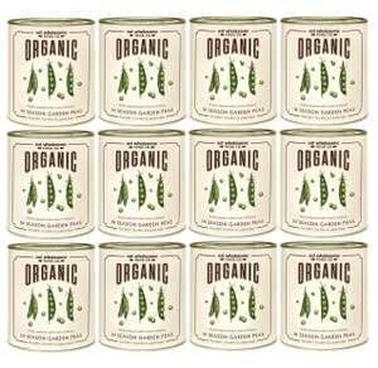 Eat Wholesome Organic in Season Garden Peas 340g (Pack of 12) £4.70 (+£4.49 Non Prime) S/S £4.47 @ Amazon