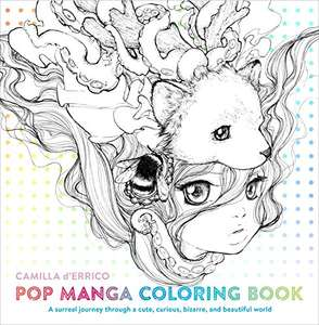 Pop Manga Coloring Book: A Surreal Journey Through a Cute, Curious, Bizarre, and Beautiful World £4.49 (+£2.99 Non Prime) @ Amazon