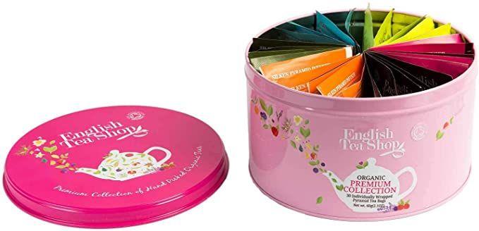 English Tea Shop Round Assortment Pink Tin, 30 Organic Premium Tea bags £3.64 (+£4.99 Non Prime) @ Amazon