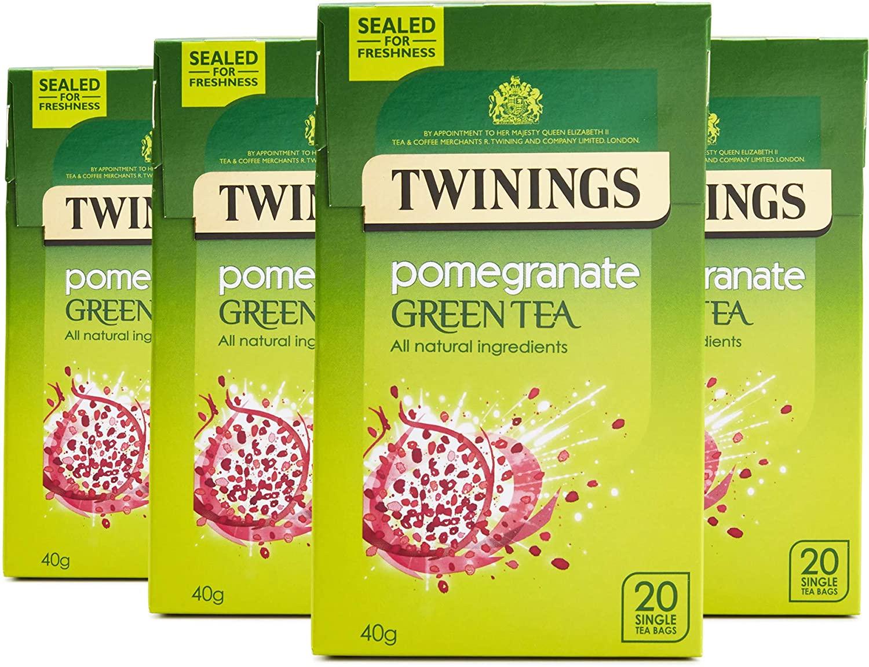 Twinings Green Tea & Pomegranate 80 Tea Bags (Multipack of 4 x 20 Bags) £1.99 (+£4.49 Non Prime) @ Amazon