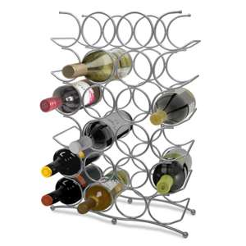 24 Bottle Free Standing Metal Wine Rack £15 delivered @ Weeklydeal4less