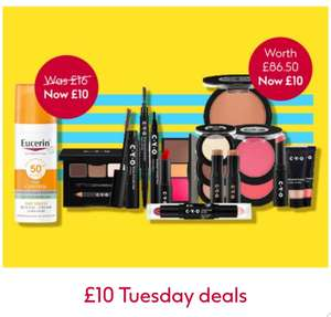 £10 Tuesday , CYO Cosmetic Bundles Oral-B Eucerin sun,scholl,L,Oreal No7 Blanex Boots Kristin ess etc £10 + £1.50 click and collect @ Boots