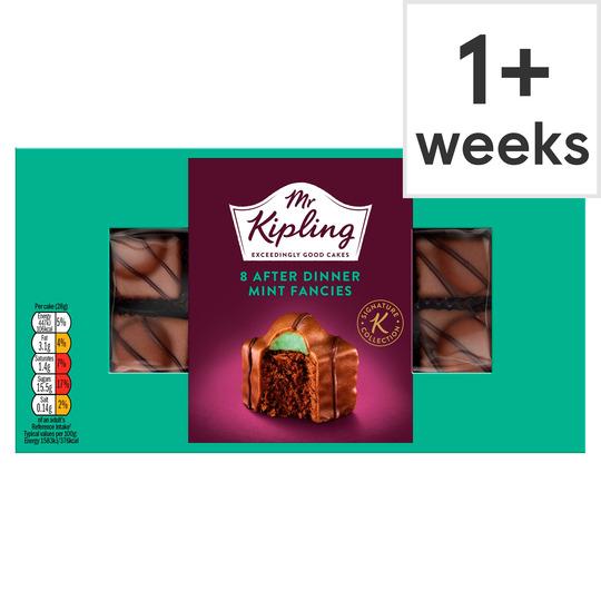Mr Kipling 8 Pack After Dinner Mint Fancies £1.25 Clubcard Price at Tesco (Min Basket / Delivery Charge Applies)