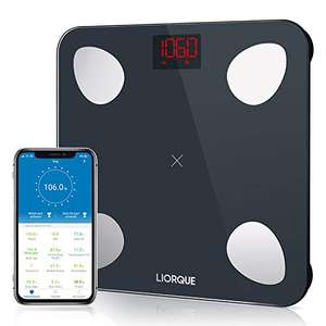 LIORQUE Smart Body Fat Scale Digital Scale with mobile app - £16.61(+£4.49 Non Prime) @ Sold by KAIYING SHOP and Fulfilled by Amazon.