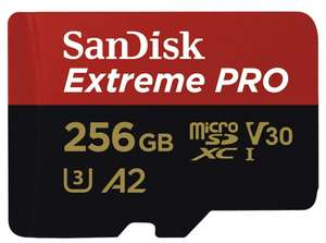 SanDisk Extreme PRO MicroSDXC 170MBs Class 10 with SD Adapter 256GB Delivered £41.39 @ Picstop
