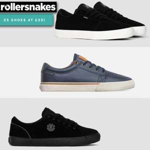 25 Pairs of Shoes Priced at £28.99 Each Delivered (UK Mainland) + Buy 2 Pairs Get £5 Off (£48.99 Delivered) @ Rollersnakes