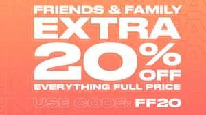 Get 20% off full priced items, using discount code @ USC