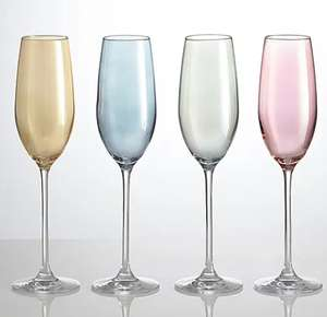 Set of 4 Lustre Assorted Flute Glasses £5 @ Dunelm Free click & collect