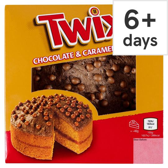 Twix Chocolate & Caramel Cake £2 Clubcard Price @ Tesco