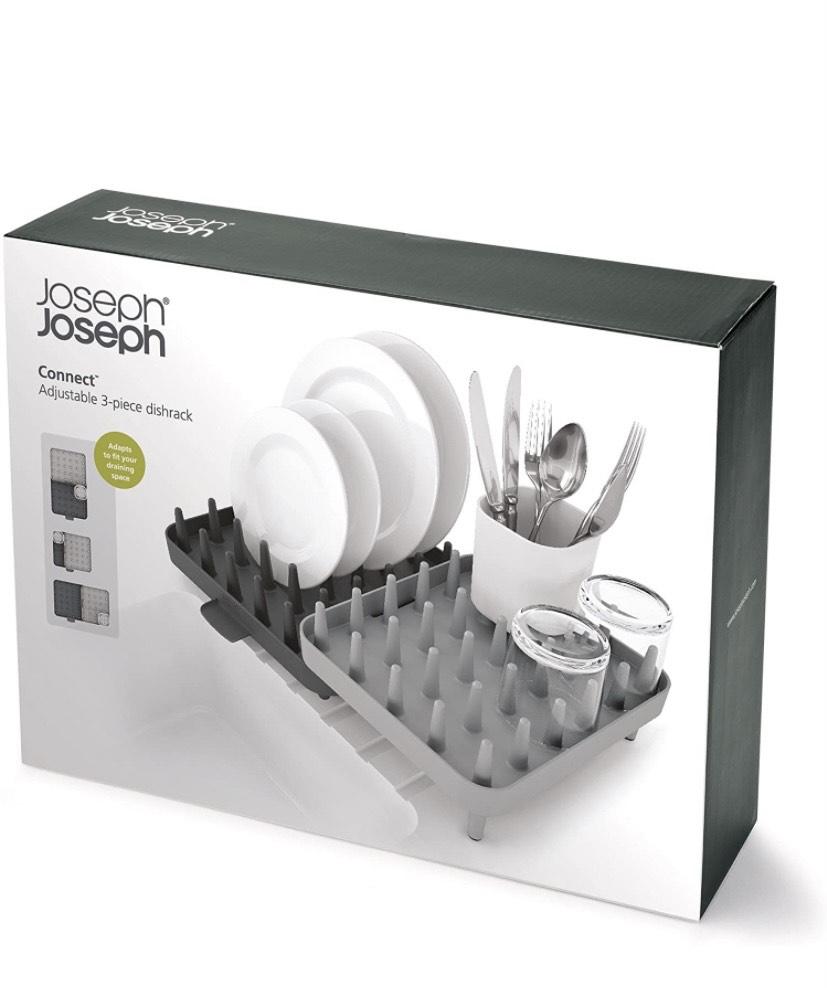 Joseph Joseph 85035 Connect Adjustable 3-Piece Dishrack - Grey. - now £14.31 (+£4.49 Non Prime) @ Amazon