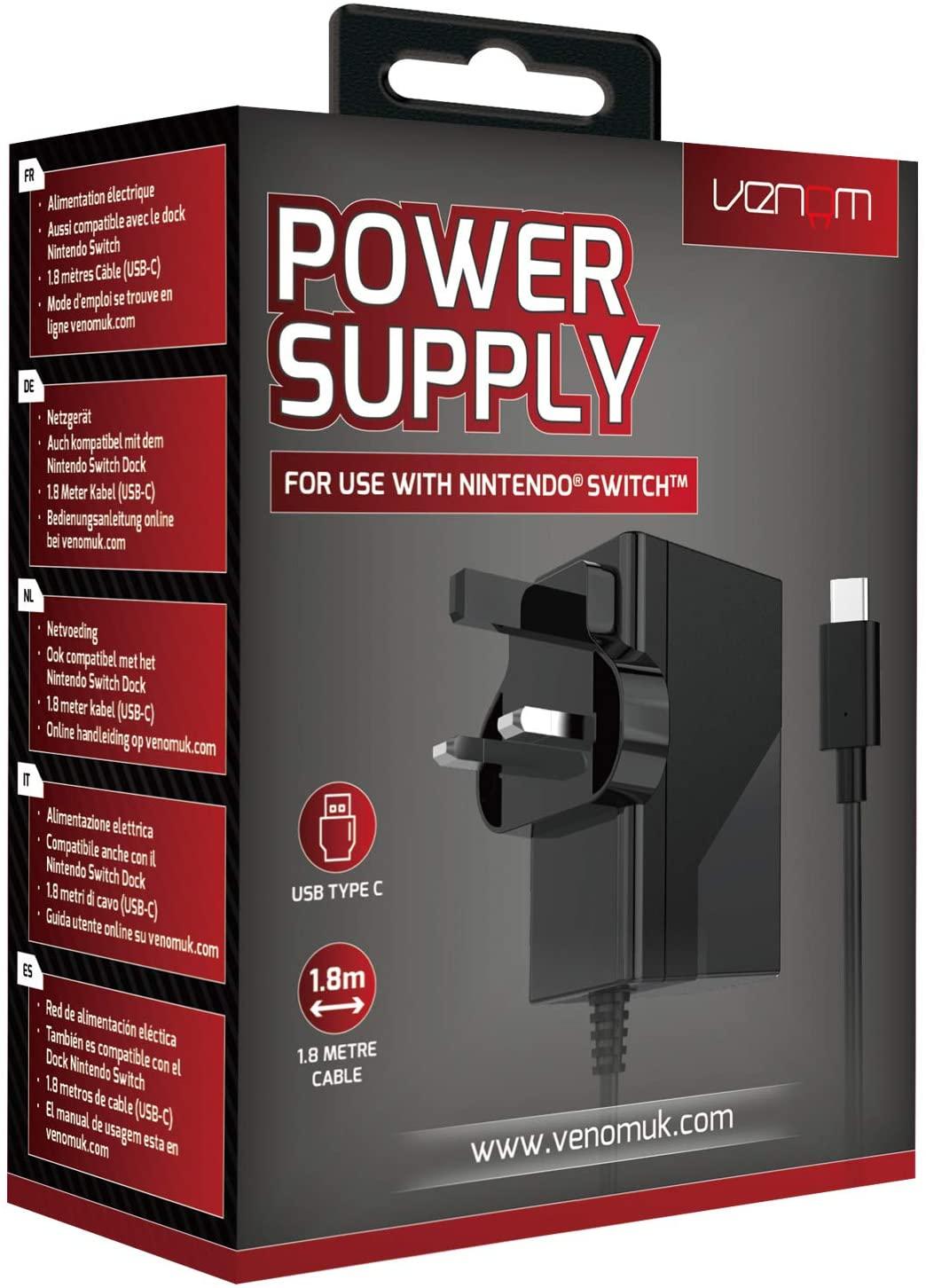 Venom Nintendo Switch Power Supply - £7.99 Prime / +£4.49 non Prime @ Amazon