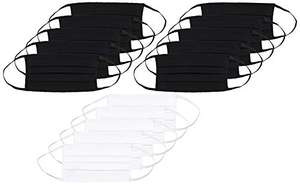 Oscar Apparels Reusable Face Masks Multi-pack of 15 100% BCI Cotton with Elastic Loop - £3.39 Prime / +£4.49 non Prime @ Amazon
