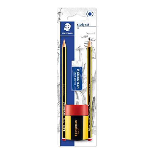STAEDTLER Study Set - 2 x HB Pencils + Eraser + Sharpener - £2.21 Prime / +£4.49 non Prime @ Amazon